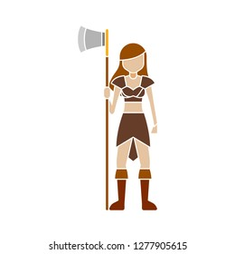 warrior silhouette icon - warrior soldier isolated, ancient knight illustration - Vector soldier