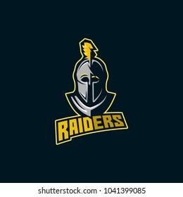 warrior, spartan, raiders e sports logo game