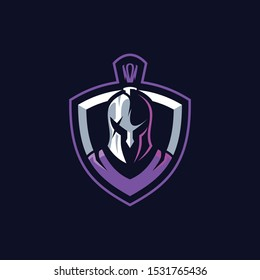 Warrior spartan roman knight sport gaming esport logo template for streamer team squad