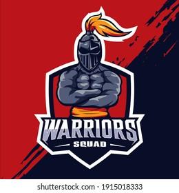 Warrior squad esport mascot logo design