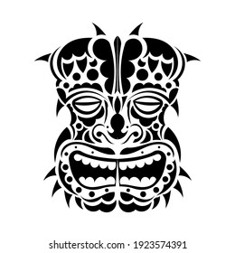 Warrior Tribal Mask. Good for prints, tattoos, and t-shirts. Isolated. Vector