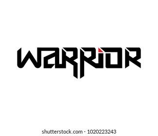 Warrior Vector Lettering Design, Typography, Emblem, Design Concept
