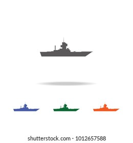 Warship  icon . Elements of Military multi colored icons. Premium quality graphic design icon. Simple icon for websites, web design, mobile app, info graphics on white background