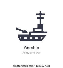 warship icon. isolated warship icon vector illustration from army and war collection. editable sing symbol can be use for web site and mobile app