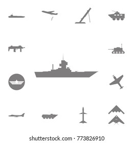 Warship icon. Set of military elements icon. Quality graphic design collection army icons for websites, web design, mobile app on white background