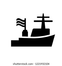 Warship icon. Trendy Warship logo concept on white background from army and war collection. Suitable for use on web apps, mobile apps and print media.
