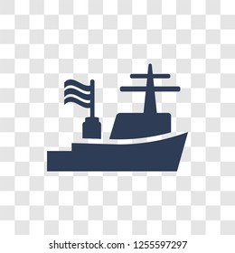 Warship icon. Trendy Warship logo concept on transparent background from army and war collection