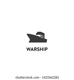 warship icon vector. warship vector graphic illustration
