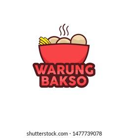 Warung Bakso Logo Template - Vector
