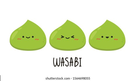 Wasabi character design. wasabi vector .on white background. wallpaper.