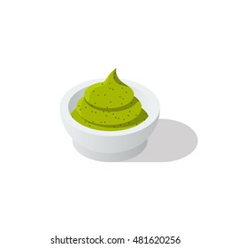 wasabi isometric icon isolated on white background Created For Mobile, Web, Decor, Print Products, Applications. Vector illustration