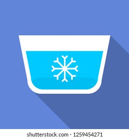 Wash in cold water icon. Flat illustration of wash in cold water vector icon for web design