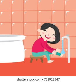 Wash your hand and feet campaign. Health campaign for children poster design template. Hygiene campaign for kid.