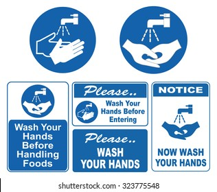 wash your hands sign (wash your hands before handling foods, before entering, please wash your hands)