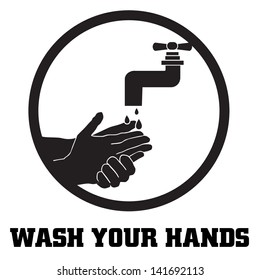 wash your hands symbol