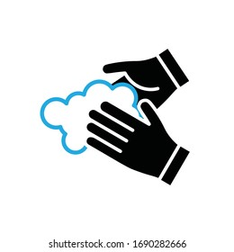 Wash your hands vector icon