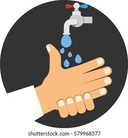 Wash your hands. Vector icon