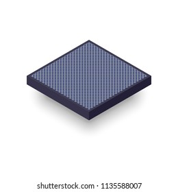 Washable Air Filter isometric icon. Clipart image isolated on white background