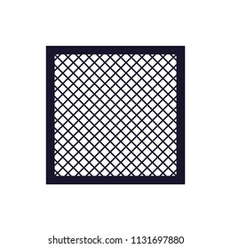 Washable Air Filter silhouette icon. Clipart image isolated on white background