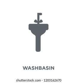 Washbasin icon. Washbasin design concept from Hygiene collection. Simple element vector illustration on white background.