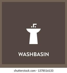 washbasin icon vector. washbasin sign on white background. washbasin icon for web and app