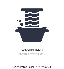 washboard icon on white background. Simple element illustration from Miscellaneous concept. washboard icon symbol design.