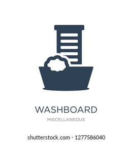 washboard icon vector on white background, washboard trendy filled icons from Miscellaneous collection, washboard vector illustration