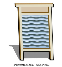 Washboard isolated on white background. Vector cartoon close-up illustration.