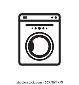 Washer flat sign design. Washer vector icon. Wash machine symbol pictogram