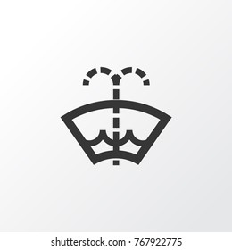 Washer fluid icon symbol. Premium quality isolated windscreen element in trendy style.