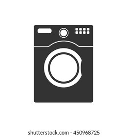 Washer icon. Flat vector illustration in black on white background. EPS 10
