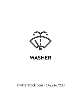 washer icon vector. washer vector graphic illustration