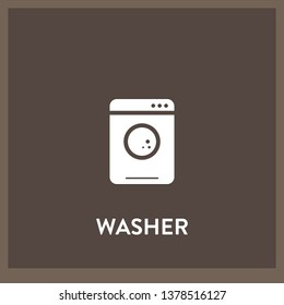 washer icon vector. washer sign on white background. washer icon for web and app