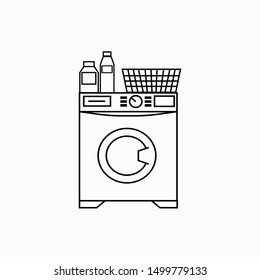 Washer vector icon on white background