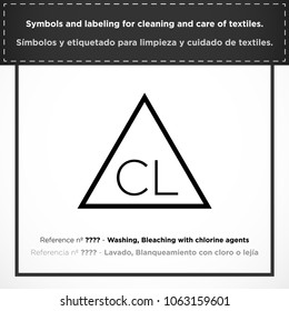 Chlorine stock vectors images vector art shutterstock washing bleaching with chlorine agents pictorial symbols and labeling for cleaning and care of urtaz Gallery