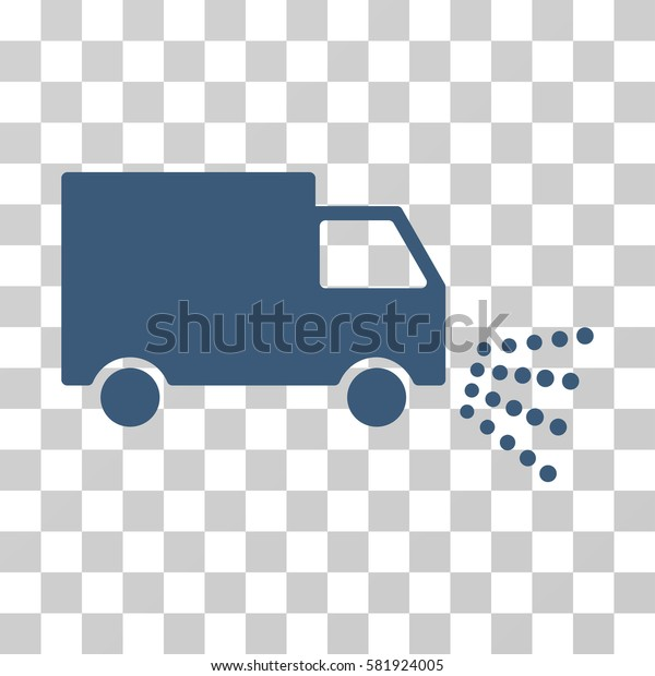 Washing Car vector pictograph. Illustration style is a flat iconic blue symbol on a transparent background.