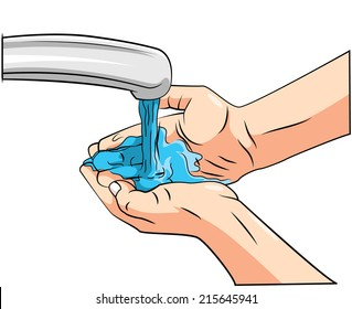 washing hands cartoon images stock photos vectors shutterstock rh shutterstock com washing hands cartoon images washing hands cartoon pics