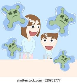 washing hand protect disease