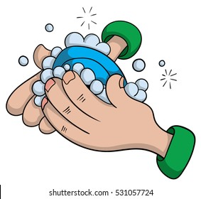 washing hands cartoon images stock photos vectors shutterstock rh shutterstock com clip art washing hands with hand sanitizer clip art washing hand posters