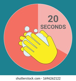 Washing hands with soap for 20 seconds to prevent coronavirus