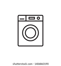 washing machine icon design template. Trendy style, vector eps 10