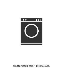 Washing machine icon flat. Icon Flat