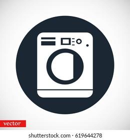 Washing machine icon, flat design best vector icon