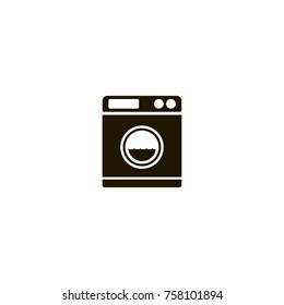 Washing machine icon. flat design