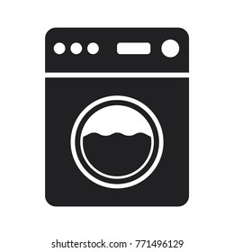 washing machine icon, flat design best washing machine icon