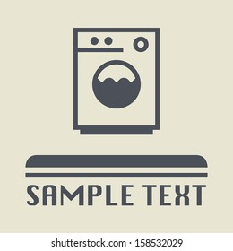Washing machine icon or sign, vector illustration