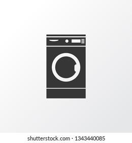 Washing machine icon symbol. Premium quality isolated laundromat element in trendy style.