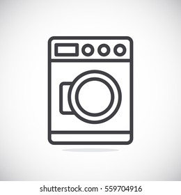 Washing machine Icon Vector.