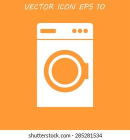 washing machine icon. Vector illustrator EPS 10