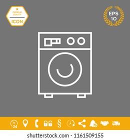Washing machine linear icon